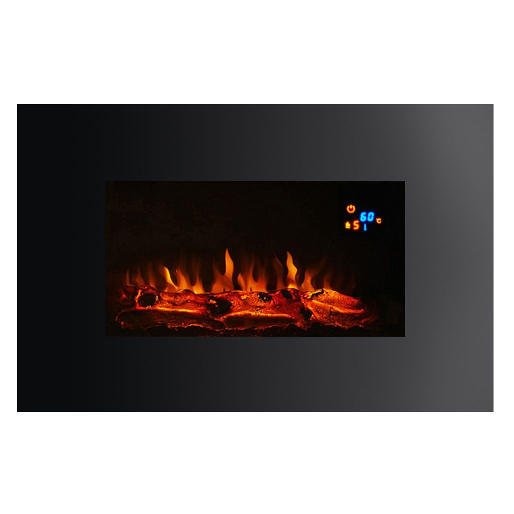 Focal Point Electric Fire: Focal Point Charmouth Black LED Display Remote Control