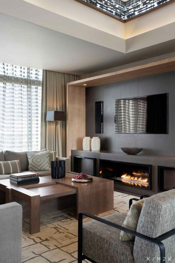 penthouse mit edlen materialien und dezentem luxus in kapstadt penthouse wohnung kamin modern