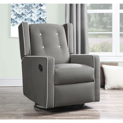 Simple Glider Recliner Swivel Chair For Nursery Look What I Found On Wayfair With Images Nursery Chair Rocker Recliners Recliner