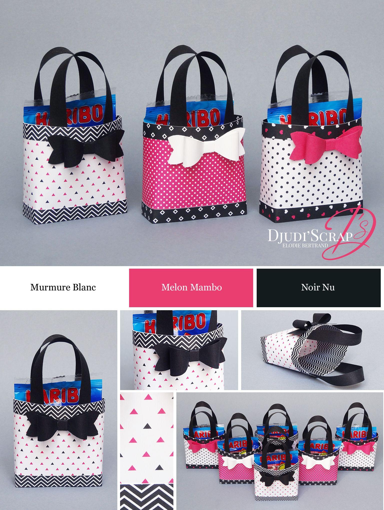 Tutoriel petit sac main friandises perforatrice noeud perforateur petits sacs et friandises - Petit sac en papier pour mariage ...
