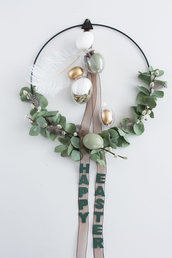 Photo of Modern Easter wreath with eucalyptus and spices – Sinnenrausch – The creative DIY blog for living senses