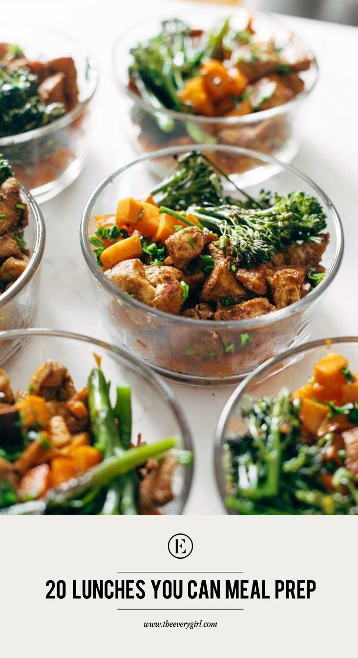 20 lunches you can meal prep on sunday   cooking   pinterest   meal