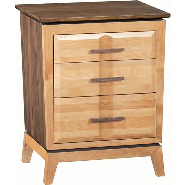 Delicieux Alder And Black Walnut Addison Nightstand | Saah Furniture