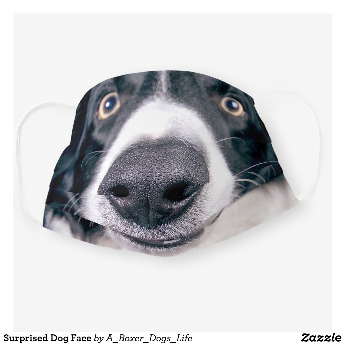 Surprised Dog Face Cloth Face Mask Zazzle Com In 2020