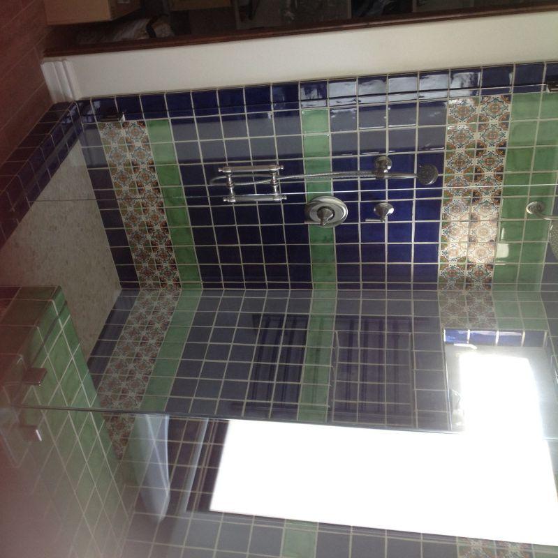 Cobalt Blue Mexican Tile Bathrooms Google Search