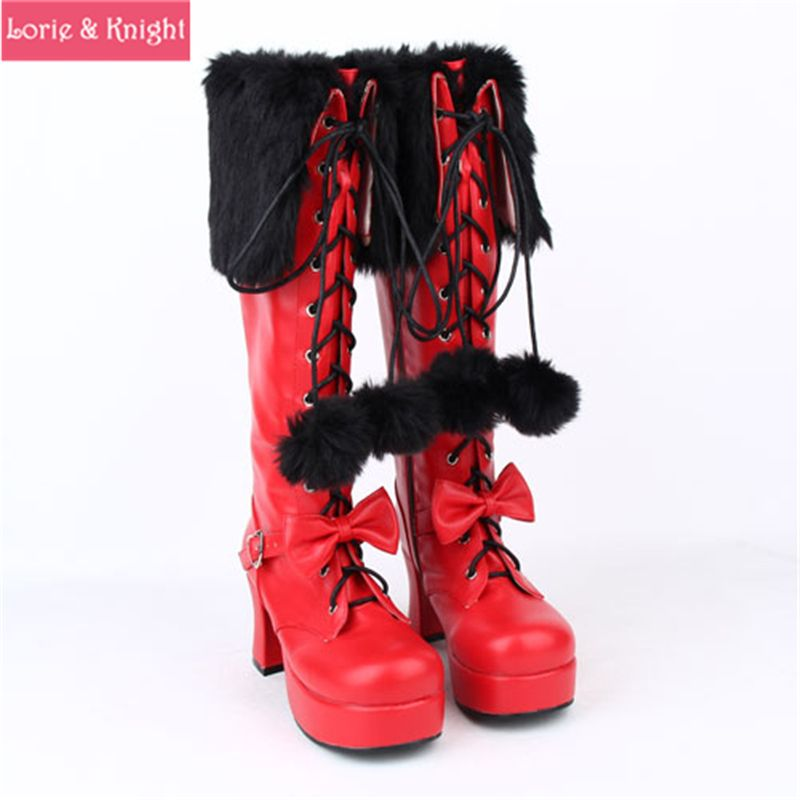 Red Platform High Black and Click Heel BuyWomen to Lace PXuikZOT