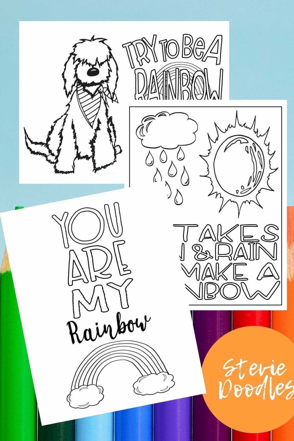 11 Free Printable Rainbow Coloring Pages Stevie Doodles Coloring Pages Free Printables Free Printable Coloring Pages [ 1800 x 1200 Pixel ]