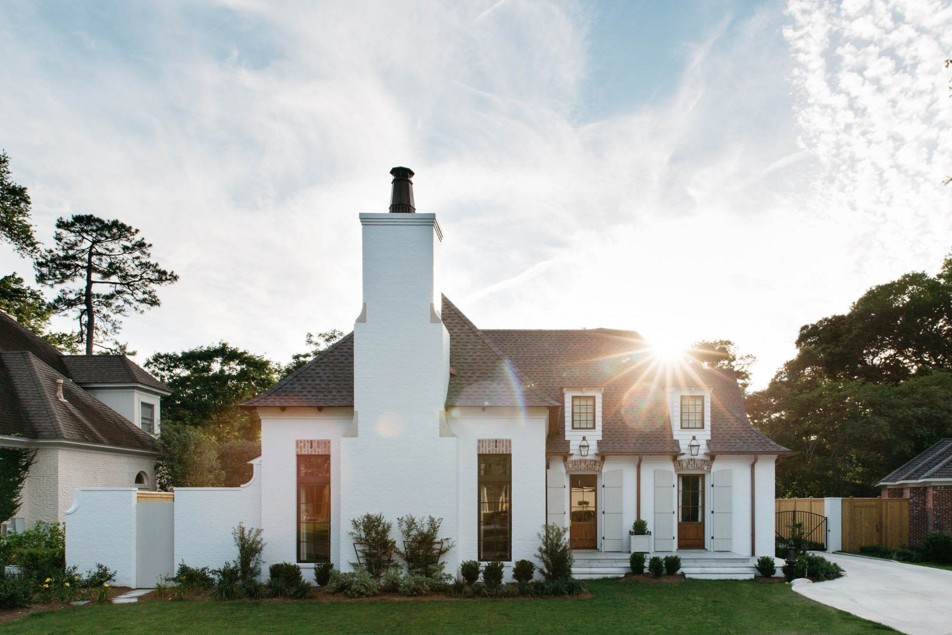 Modern French Farmhouse Exterior French Cottage Home By Mccown Design E X T E R I O R S In 2019
