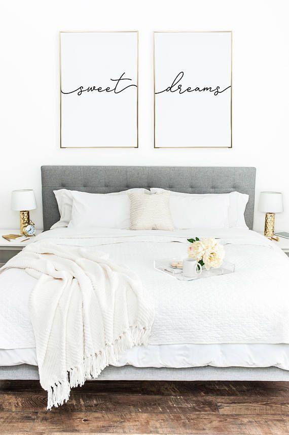 Above Crib Art Set Of 2 Prints Minimalist Poster Bed
