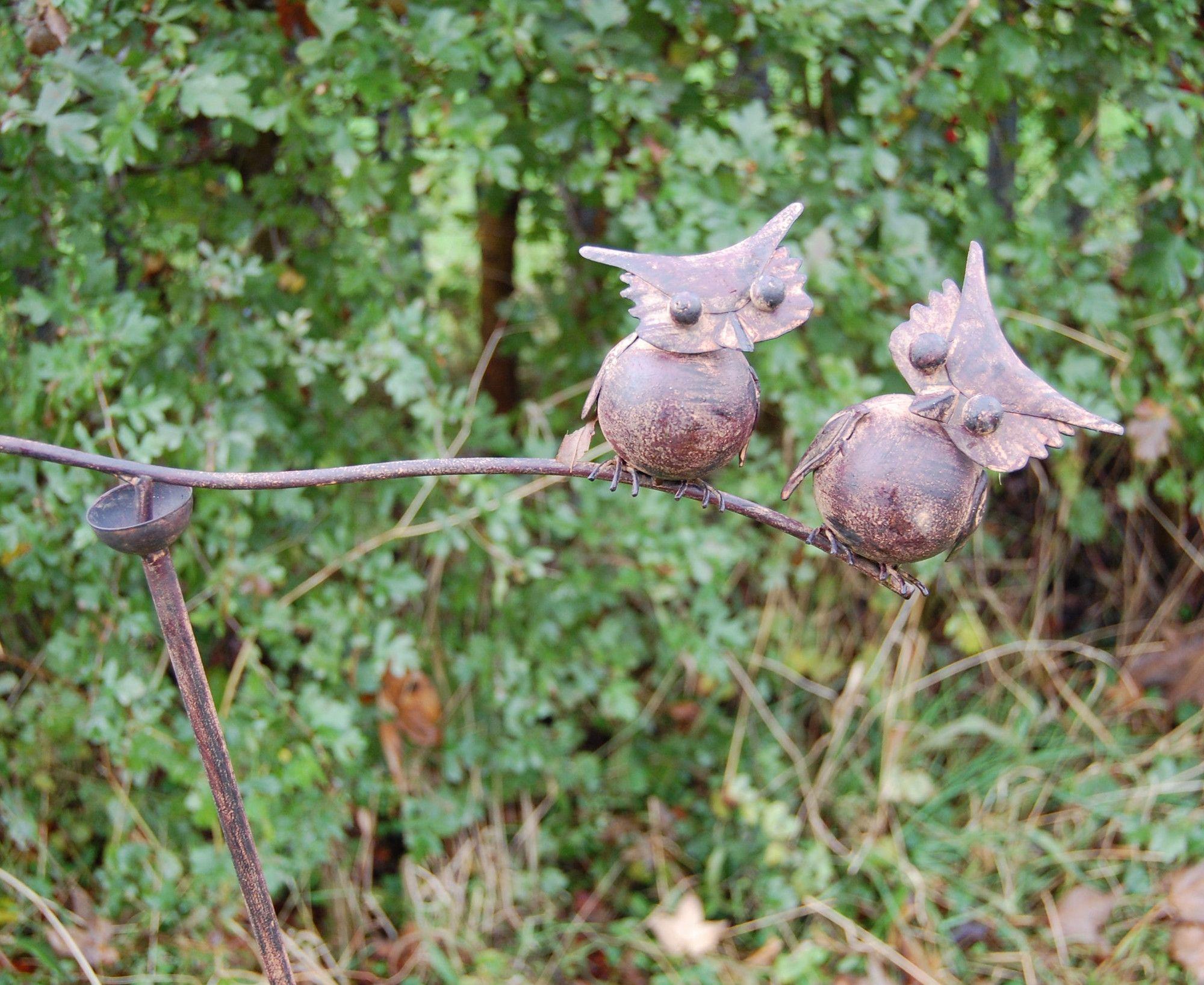 Balance Pair Owls Garden Stake