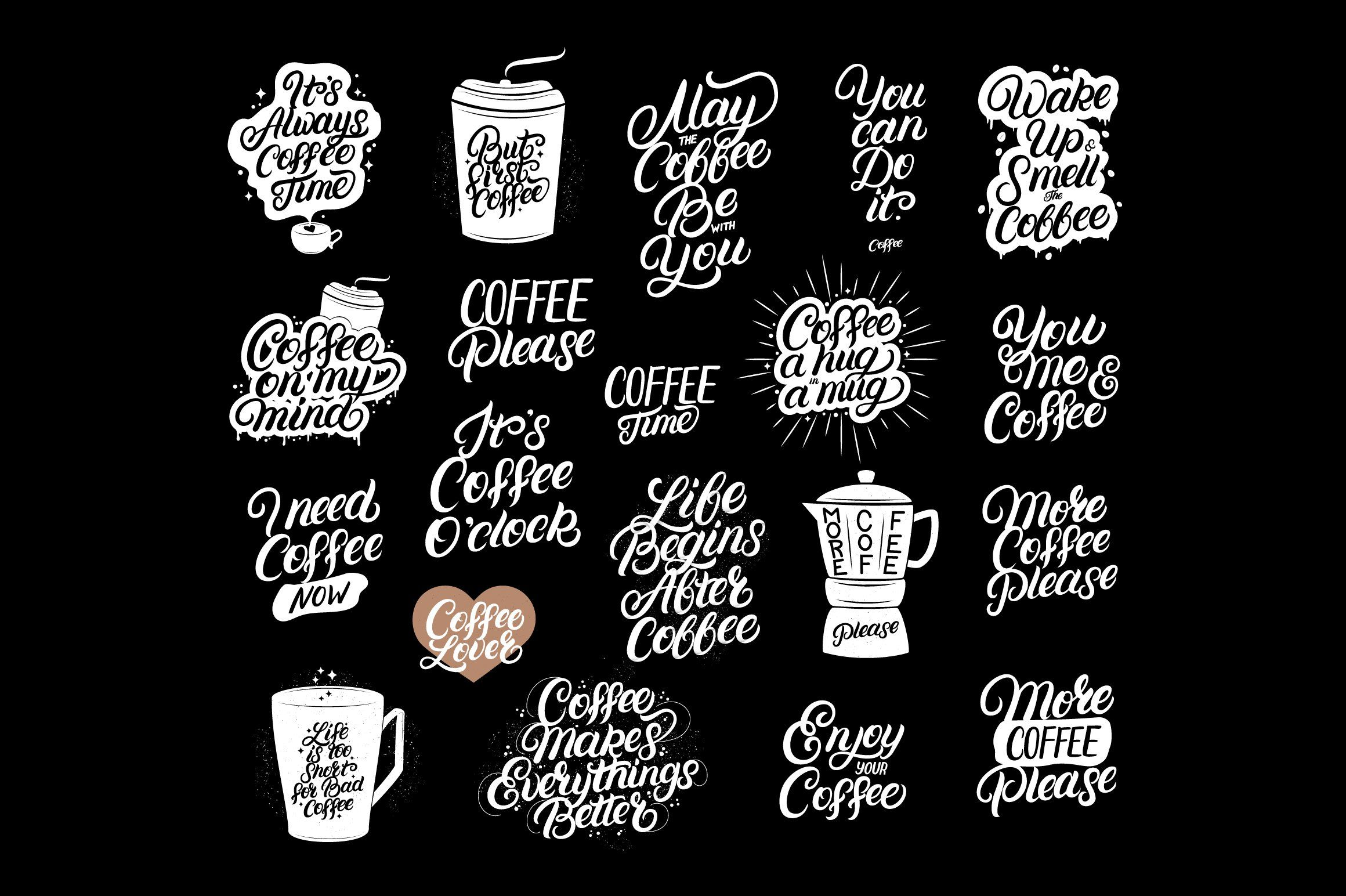 20 Coffee Quotes , sponsored, loversphrasescardstee