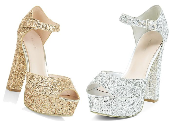 New Look glitter platform sandals