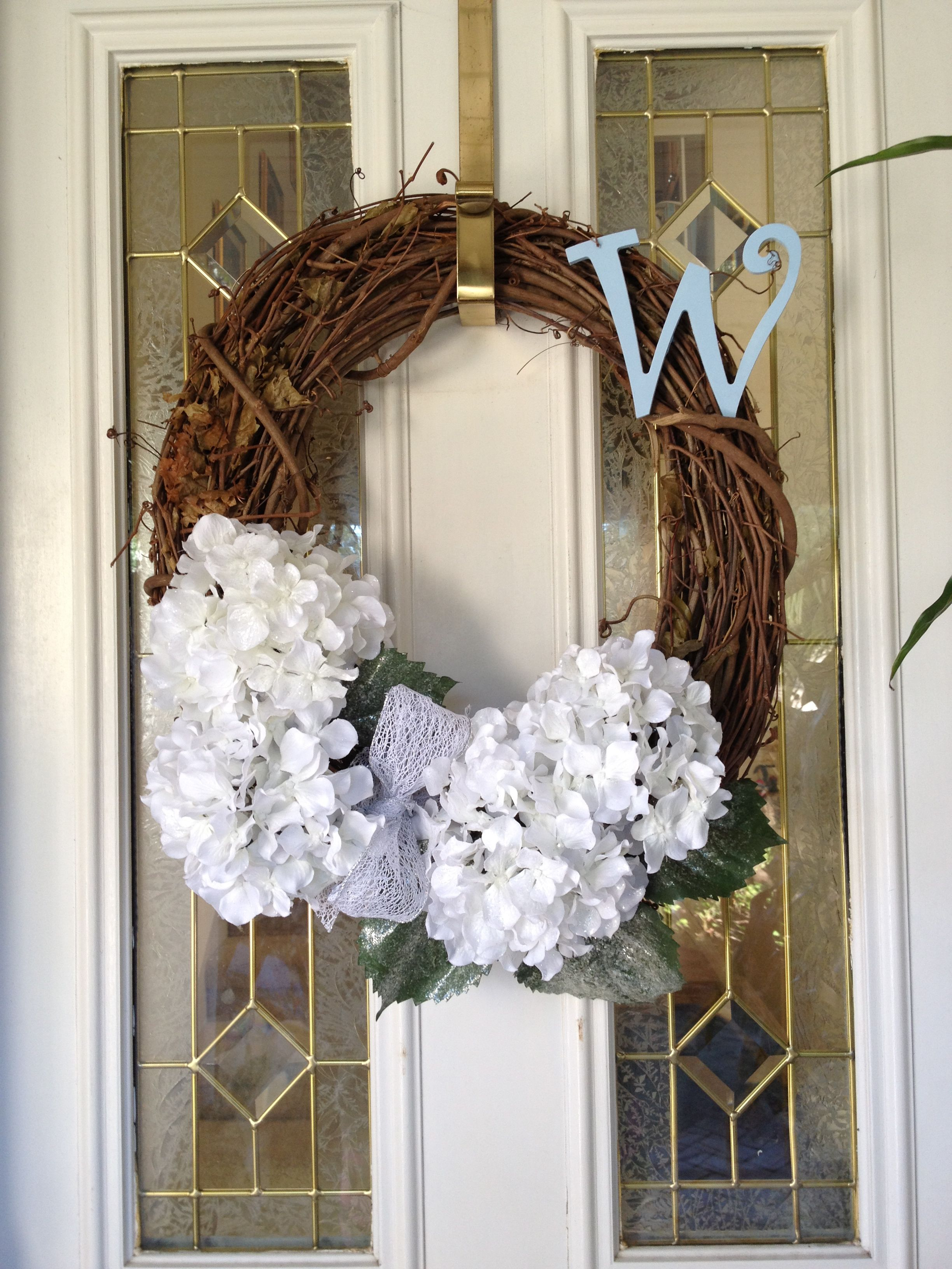 Our New Front Door Wreath Based Off Of That Beautiful With House Numbers Wanted To Do Initial Instead