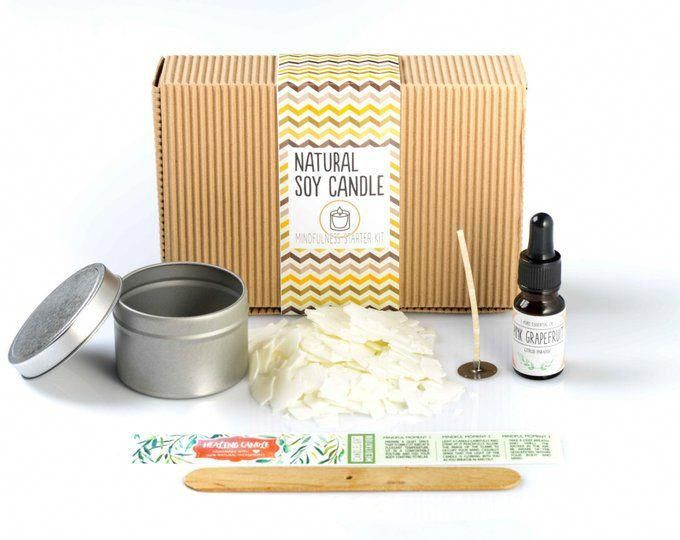 Natural Aromatherapy Soy Candle Kit - People who have Justin