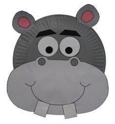 animal crafts   dltk s crafts for kids paper plate hippo ...