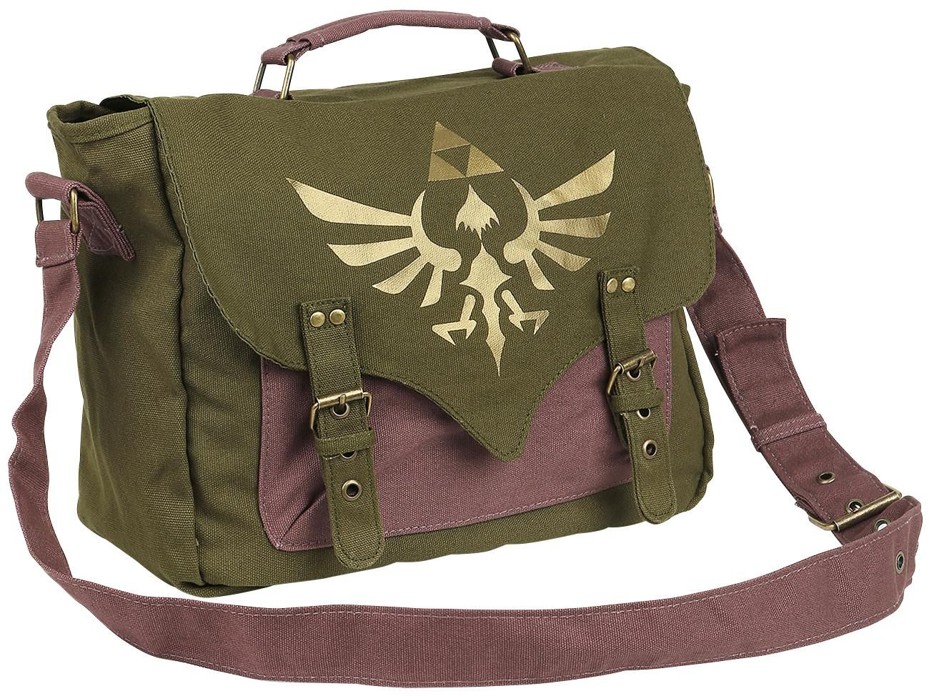 633b2873a56 Golden Logo Olive Green Satchel The Legend Of Zelda, Zelda Backpack,  Backpack Purse,