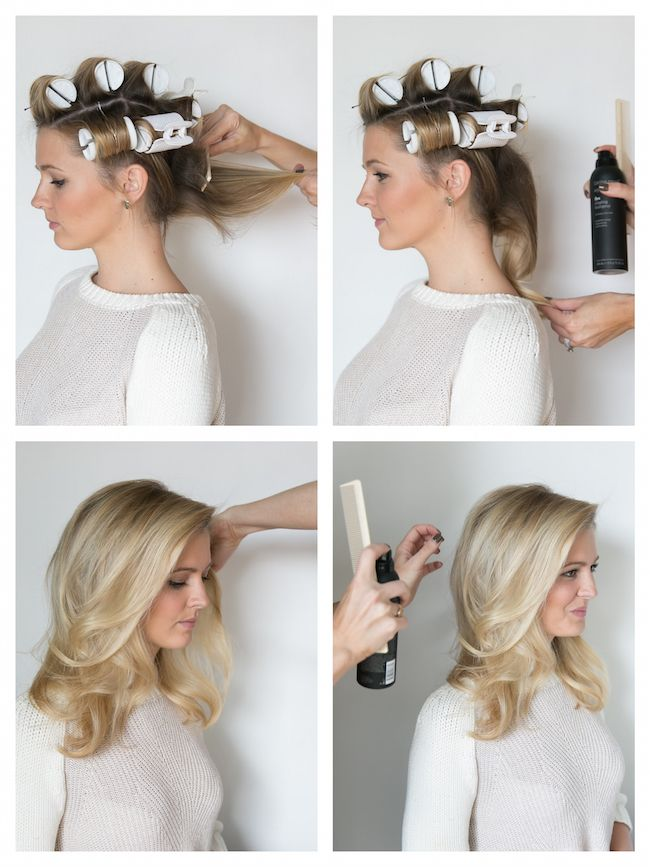 How To Hot Roll Your Hair Beauty Pinterest Hot
