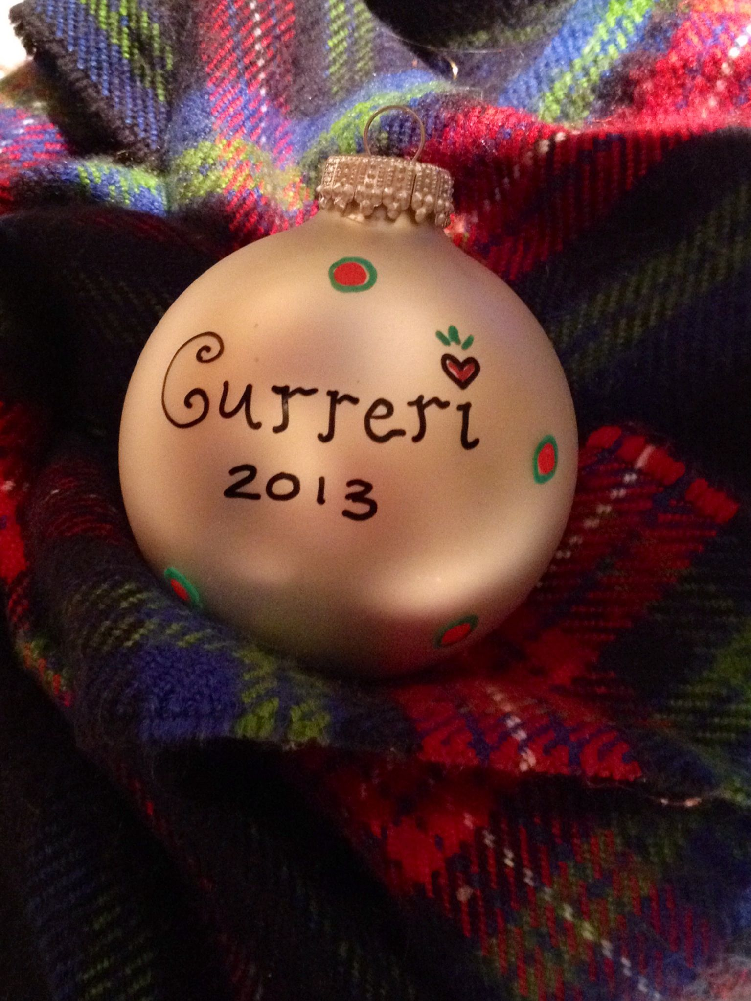 christmas family bulb