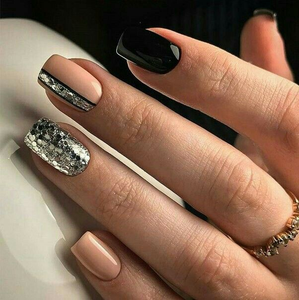 Pin by gia reed on nail art pinterest manicure simple nail interestingly cute nail art idea with glitter ideas de unas onlges acrylic gel nails prinsesfo Image collections