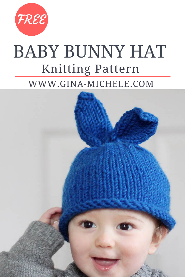 Free Knitting Pattern For This Baby Bunny Hat Perfect For Beginners Knitting Knittingpattern Baby Hats Knitting Baby Hat Knitting Pattern Knitting