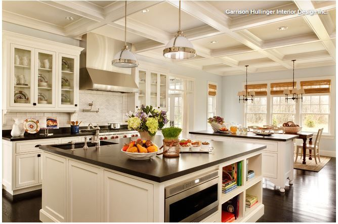 Large Square Island Traditional Kitchen Design Kitchen Remodel Design Kitchen Island Design