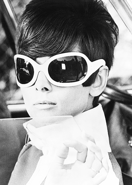 """"""" Audrey Hepburn photographed on the set of How To Steal A Million c. 1965 """""""