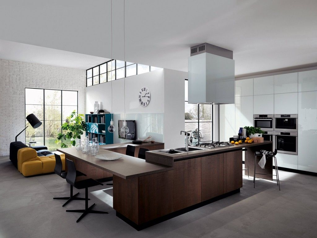 Cucina e soggiorno in un open space | Interiors, Spaces and Kitchens