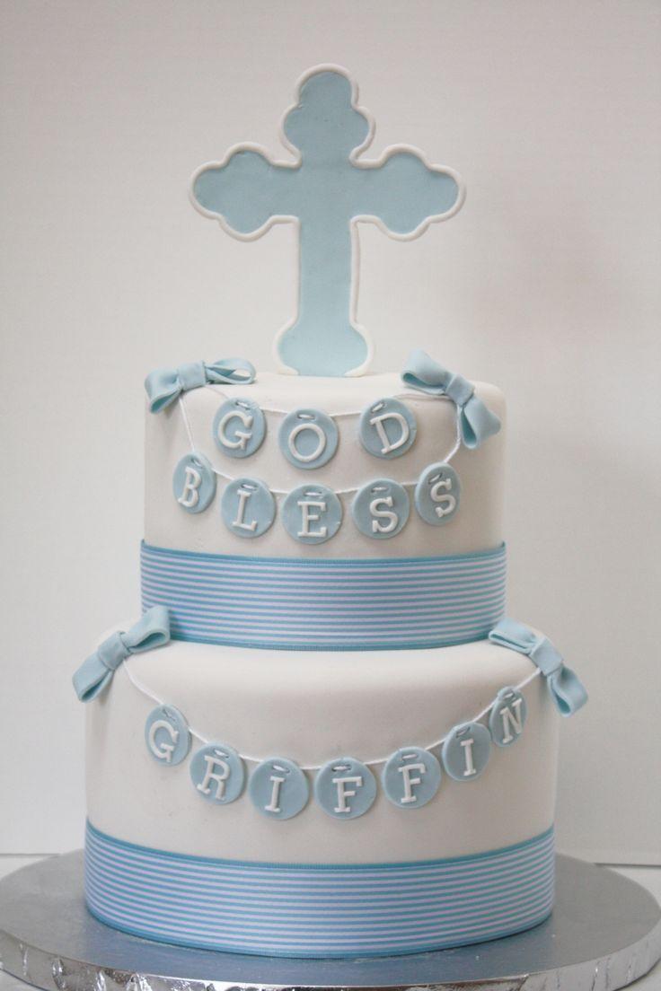 baptism cakes for boys cross   visit facebook com