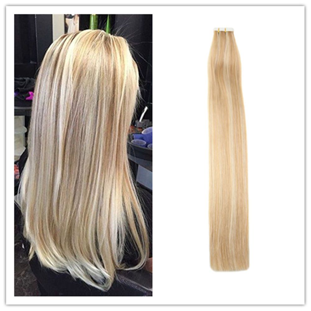 Balayage On Dark Hair Prices Details About Full Shine Tape In Hair Extensions Blonde