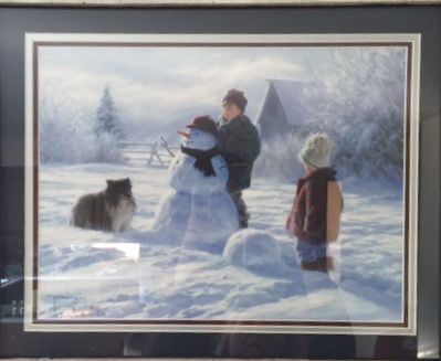 My New Winter mantel picture. I love this, now to find things to go with it on my mantel.