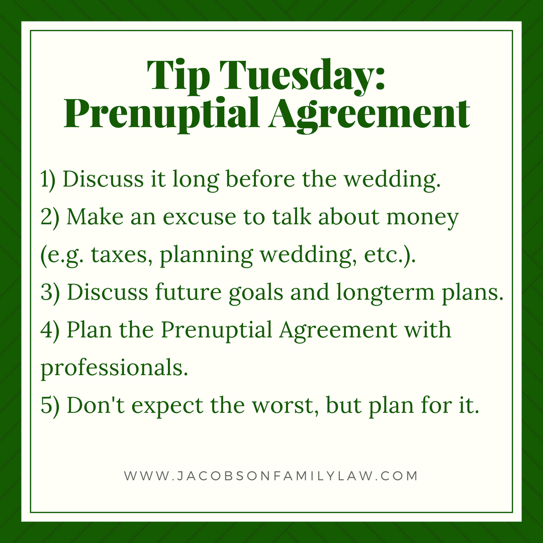 Prenuptial agreements do not have to be a bad thing they