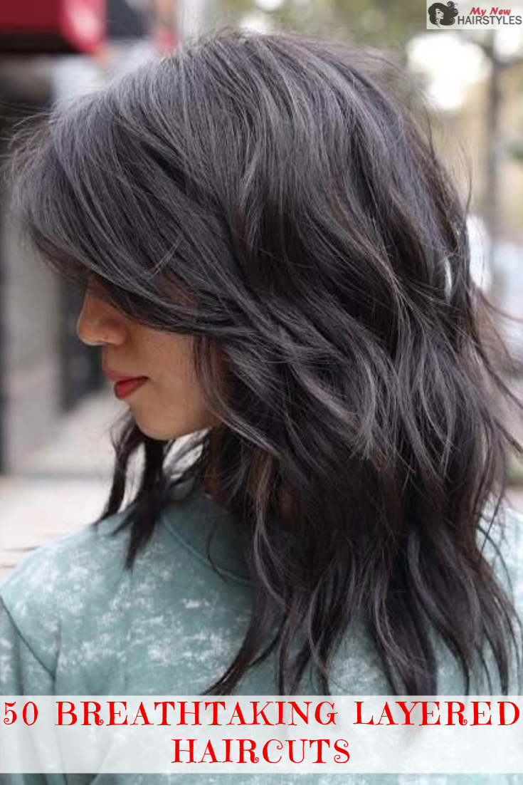 Layered haircuts are hardly a thing of the past. Every decade since we can remember has seen its fair share of beauties who have donned this particular hairstyle and, frankly, we can't get enough of it. #mediumlengthhaircut