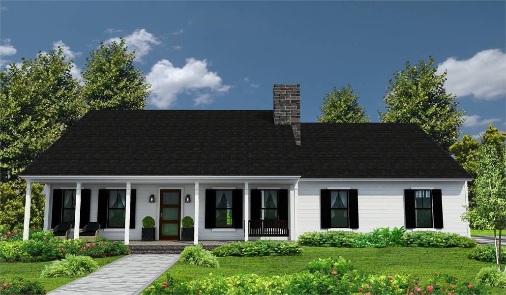 #affordable #beautiful #bedrooms #House #Plan #Ranch #sf