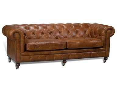 Shop For Sarreid Casting Chesterfield Sofa 3 Seater 28896 And Other Living Room Sofas At Englishm Tufted Leather Chesterfield Leather Sofa Leather Sofa Couch