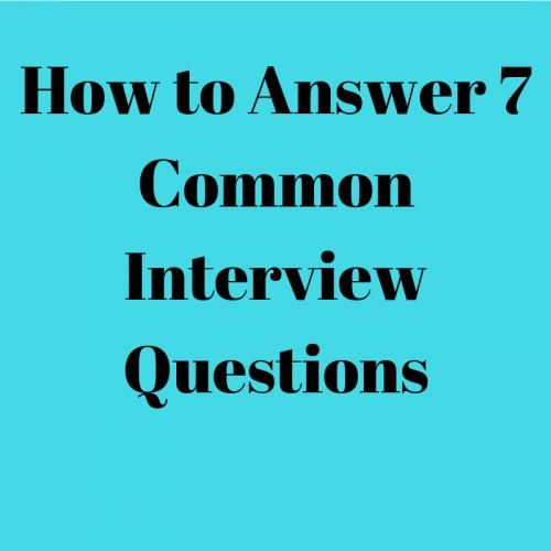 how to answer 7 common interview questions #grammar # ...