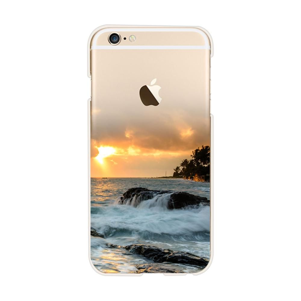Beautiful Scenery For Iphone 6 Case River Mountain Ocean Sunset Pattern Soft Silicon Tpu Cover For Iphone 6s 5 Clear Iphone Case Ultra Thin Iphone Case Iphone