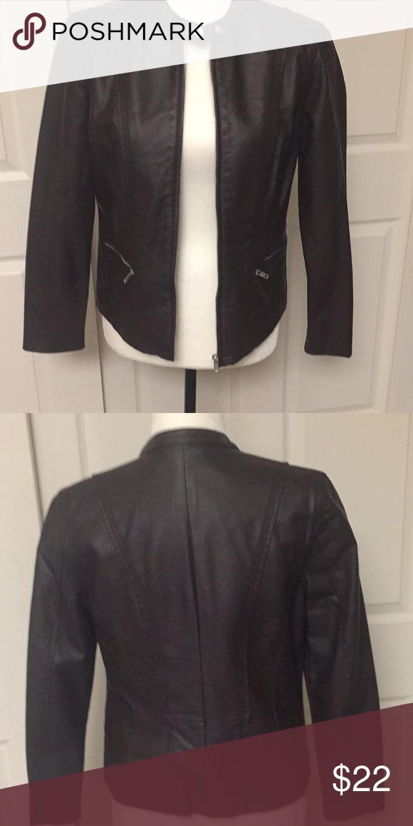 Dark Brown Faux Leather Jacket Leather Jacket Brown Faux Leather Jacket Faux Leather Jackets