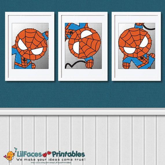 Spiderman Wall Art cute spiderman wall art printable 8x10 poster- digital wall art