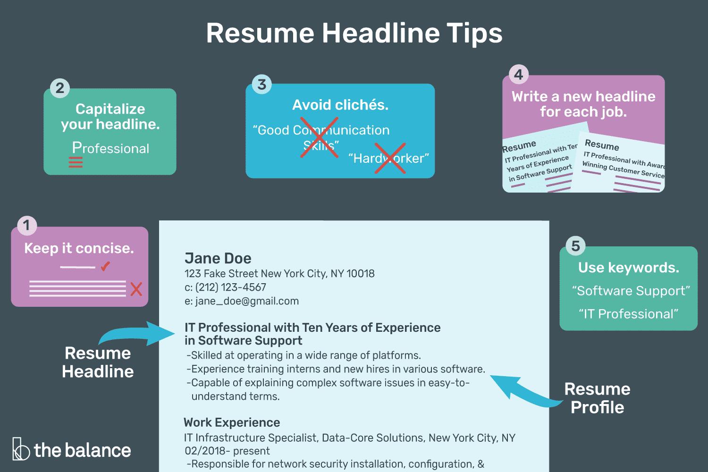 unique resume titles 2019 unique resume names examples