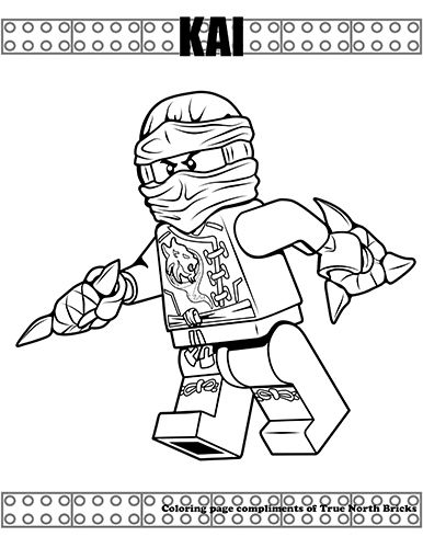 Coloring Page Kai From Ninjago True North Bricks Ninjago Coloring Pages Coloring Pages Lego Coloring Pages