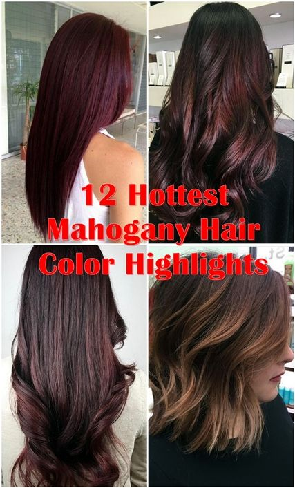 Hairstyles And Colors 12 Hottest Mahogany Hair Color Highlights For Brunettes  Pinterest