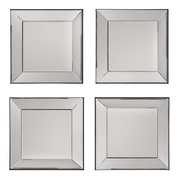 Decorative Square Wall Mirrors Set Of 4