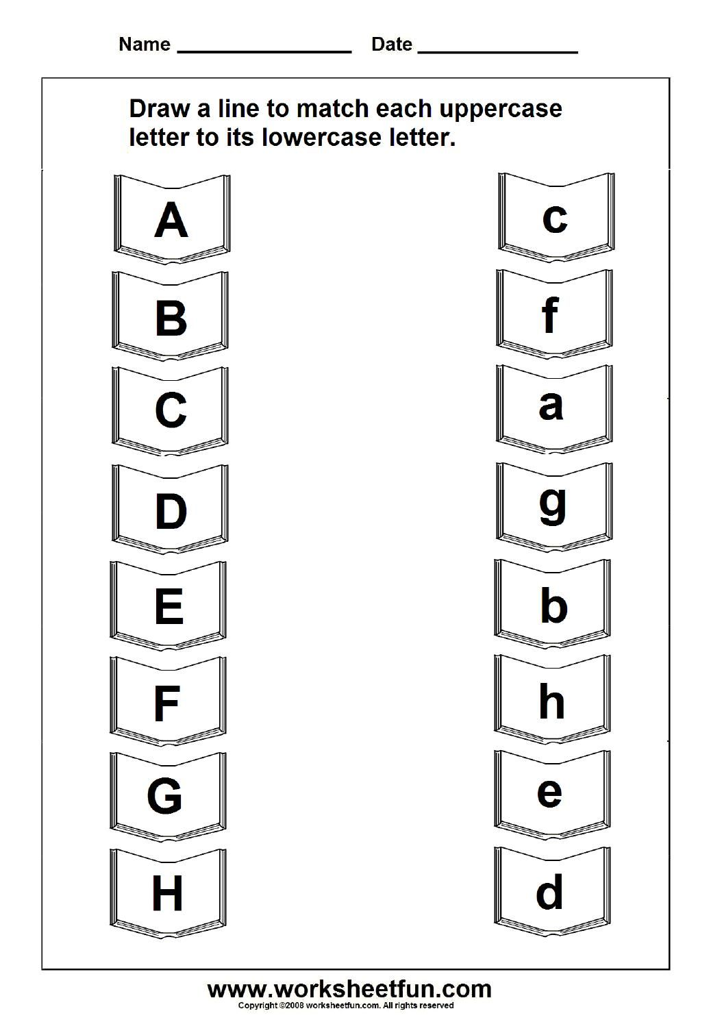 Upper And Lower Case Alphabet Worksheets