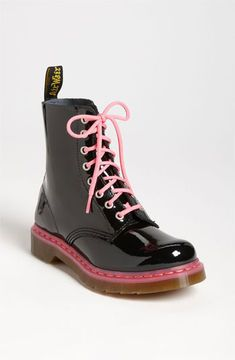 053124196a7 Dr. Martens 'Pascal' Boot Womens Black/ Acid Pink Size 7 M 7 M on ...