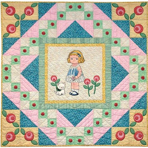 Ring Around THE Rosie Quilt Applique Pattern – Painted Pony 'N Quilts