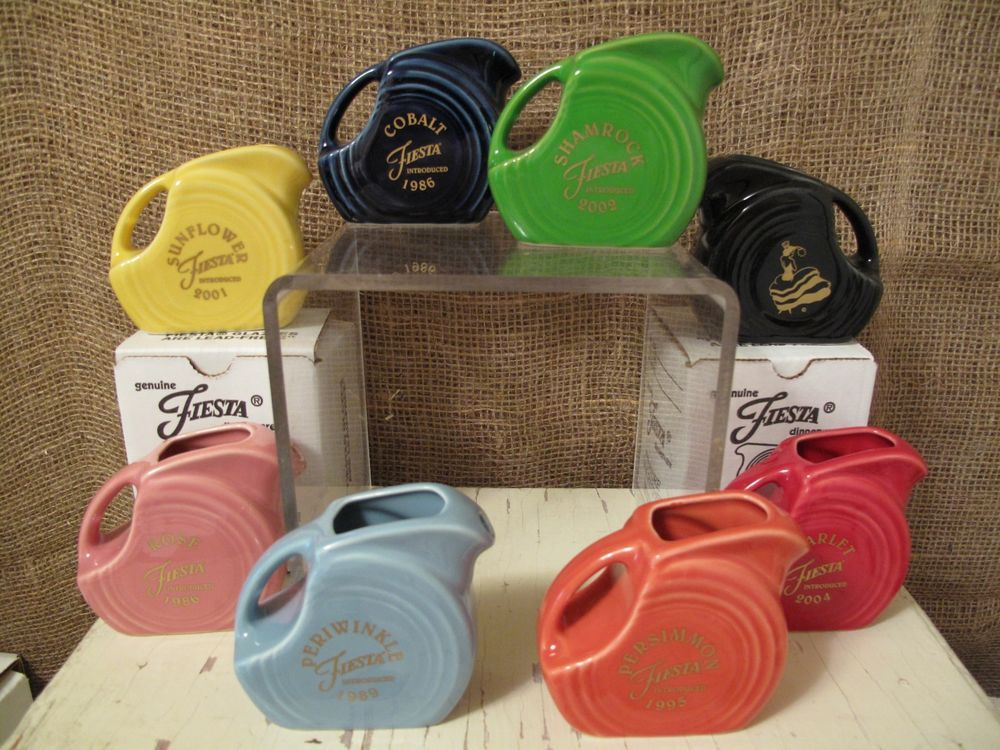 Fiesta Mini Disc Pitcher Betty Crocker Exclusive Set Of 8 Limited