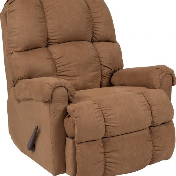 Signature Design By Ashley Raulo Rocker Recliner In Mocha Fabric