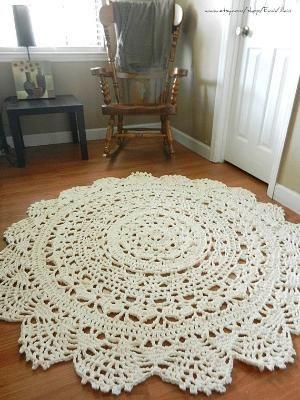 giant doily crochet rug