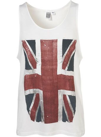 White Great Britain Flag Vest