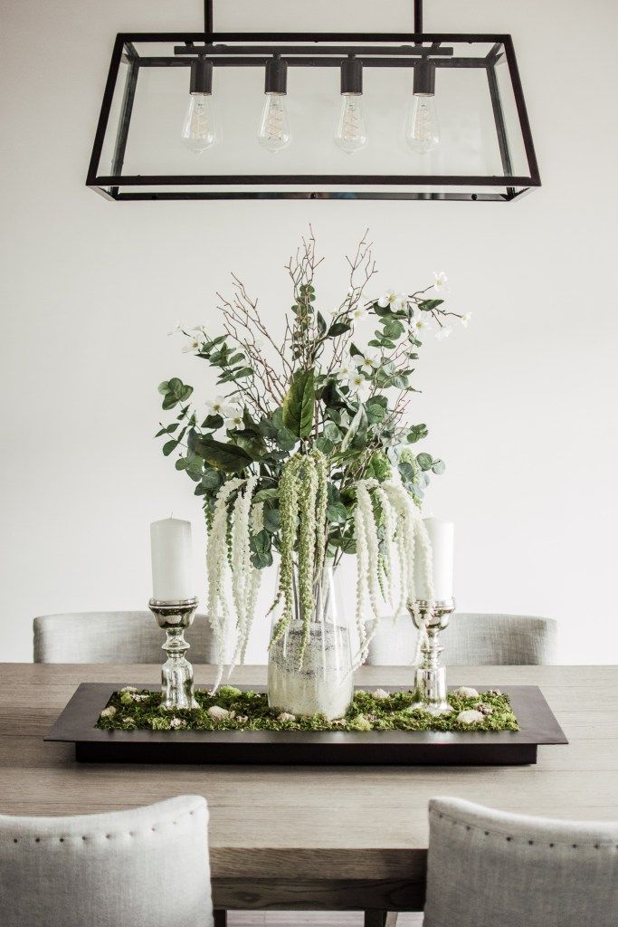 Diy Centerpiece Dining Room Table Centerpieces Dining Room